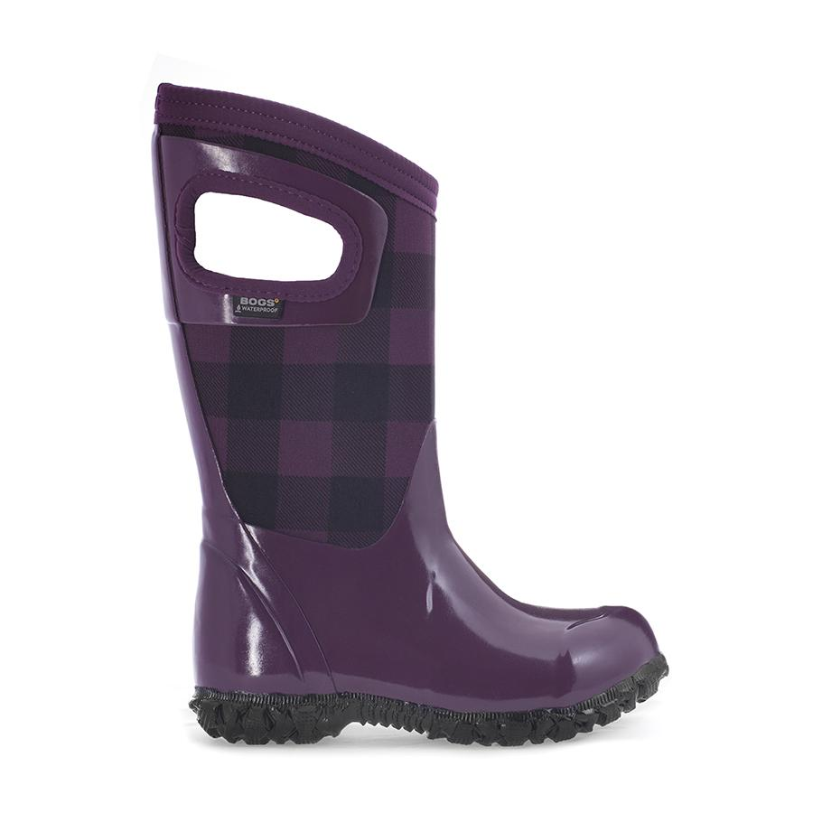 North Hampton Buffalo Plaid Kids' Insulated Rain Boots - 72006
