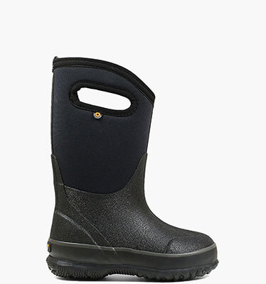 Classic Black with Handles Kids' Insulated Boots