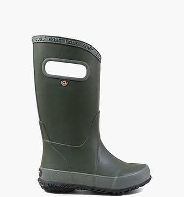 Rainboot Solid Kids' Lightweight Waterproof Boots in Dark Green for $40.00