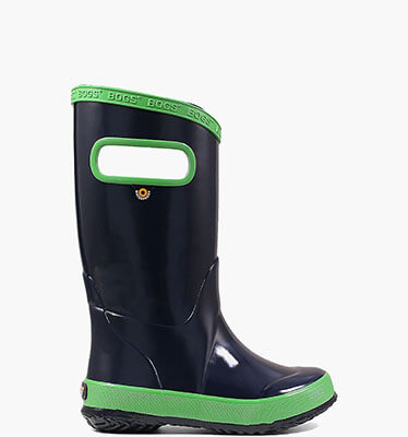 Rain Boots Navy Color Kids' Lightweight Waterproof Boots