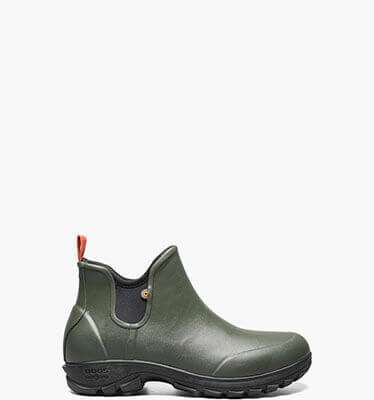 Shop the Men's Sauvie Slip On waterproof  boots.  The featured product is the Men's Sauvie Slip On boots in Dark Green.