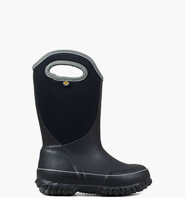 Slushie Solid Kid's Insulated Rain Boots in Black Multi for $65.00