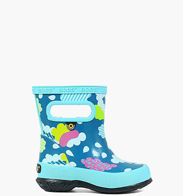 Skipper Clouds Kids' Lightweight Rain Boots in Aqua for $29.90