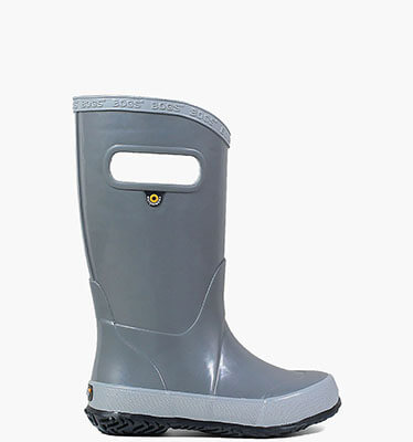 Rainboot Slip On Solid Kids' Rain Boots in Gray for $40.00