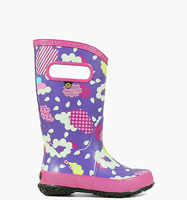 Rainboot Clouds Kids' Rain Boots in Gray Multi for $29.90