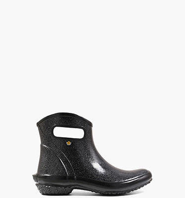 Rainboot Ankle Glitter  in Black for $60.00