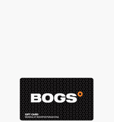 Bogs Gift Card $100  in  for $100.00